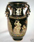 Handmade Greece 24 Karat Gold And Black Urn Vase KRATIMENOS Goddesses