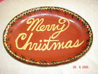 Pennsylvania Merry Christmas Decorated Redware Plate Jeff White Lebanon, Pa 1998