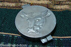 2 PIECE METAL HAMBURGER MAKER PRESS W/ COW EMBOSSED ON BOTH SIDES  TAIWAN