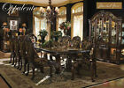 Oppulente Luxury 13 Piece Formal Dining Room Set w/ China Cabinet Michael Amini