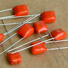 20x 330nF / 0.33uF 63V Metallized Film Capacitor, Orange.