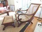 Cane Back Plantation Chair with Matching Ottoman