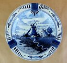 Vintage Ashtray Blue Delfts Holland Windmill Country Scene 6.25