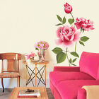 Removable Vinyl Decal Art Rose Flower Leave Home Decor Wall Sticker Mural