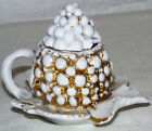 Antique Paris Porcelain Berry Jam Pot France White 1850-1899
