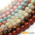 Wholesale Lot Natural Gemstone Round Spacer Loose Beads 15 6mm 8mm 10mm 12mm