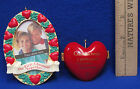 1993 Hallmark Keepsake First Christmas Together Frame & Heart Ornaments Lot of 2