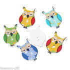 100PCs Wooden Buttons Owl Shaped Mixed Color 2 hole Sewing Scrapbook DIY