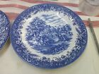 Blue and white plate Currier & Ives Harvest, England, Heritage Mint LTD