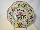 Early Spode Green Transfer & Hand Painted Floral Transferware Plate 1815-1833
