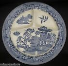 Set of 2 Blue Willow Semi Porcelain Divided 10
