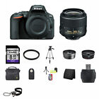 Nikon D5500 DSLR Camera Black w 18 55mm Lens 8GB Best Value Bundle