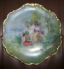 LIMOGES STUNNING FLAMBEAU CHINA / FRANCE L.D.B.C. PORTRAIT CHARGER PLATE SIGNED