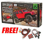 Axial 1/10 SCX10 Jeep Wrangler Unlimited Rubicon Kit + Free 8 Bulb LED Lighting