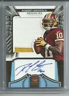 2012 Crown Royale ROBERT GRIFFIN III SILVER SILHOUETTE 3 clr Patch Auto # 84 149