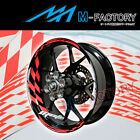 For Yamaha YZF R1 R6 03 04-11 #GP1 Red Fluorescent Wheel Stripes Rim Sticker