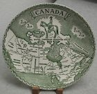 """Vintage 1950s Canada Royal Canadian Mounted Police Souvenir Map Plate 9.5"""""""