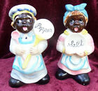 VINTAGE LEFTON LARGE  MAMMY SALT AND PEPPER SHAKER SET