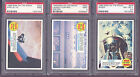 1969 TOPPS MAN ON THE MOON NEAR SET(50 55),ALL CARDS PSA 9, 8.5, NM-MT 8, 7.5, 7