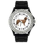Alpine Dachsbracke Dog Crystal Rhinestone Mens Ladies Silicone Wrist Watch SG17P