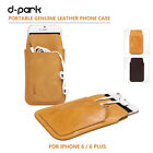 dpark Genuine Leather Case Card Pouch Sleeve For iPhone 6 Plus 5.5 US Shippping