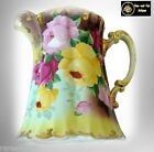 Royal Kinran Nippon pitcher with hand painted flowers - FREE SHIPPING