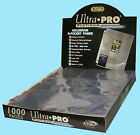 1000 ULTRA PRO PLATINUM 9-POCKET Card Pages Sheets Protector 1 case 10 boxes