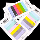 Retro Check Rainbow Sticker Maker Post it Notes Bookmark Memo Flags Sticky A0525