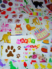 Sale Scrapbook craft stickers Mrs Grossman sticker lot grab bag variety of theme