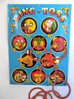 Vintage OHIO ART TIN  RING TOSS GAME 1940s-50s Litho Excellent Animal Target