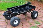 Flexible Flyer Vintage Black Metal Ride On Wagon 4x4 Series Rare Collectible