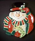 Fitz & Floyd Essentials Merry Christmas canape plate Snowman top hat gifts #2