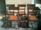 Four Baltimore Federal Fancy Paint Decorated Cane Bottom Chairs Circa 1825
