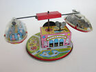 RARE vintage wind up SKY BUS Playland tin Litho carnival ride toy Japan YONE
