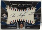 Ivan Rodriguez 2004 UD Sweet Spot Signatures Red & Blue Stitches Auto #'d 18 45