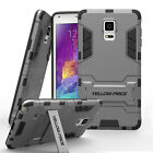 Luxury Armor Hard Bumper Soft Rubber Stand Case Cover For Samsung GALAXY Note 4