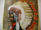 CREWEL EMBROIDERY KIT Erica Wilson CHEYENNE CHIEF indian native american stamped