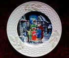 Belleek Collector Plate Holiday Scenes in Ireland-THE CAROL SINGERS - LE 7,500