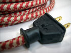 Vintage Style Rubber Plug - Lamp Cord Rewire - Cloth covered wire Lamp Steampunk