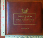 GOLDEN PROOF REPLICAS Of UNITED STATES STAMPS Album 22kt GOLD 1980-83 with FDEs