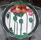 Royal Doulton Art Nouveau Red Poppies Plate Deep Colors No Crazing - 12 Sided