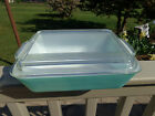 Pyrex-1-1/2-qt 503 Turquoise Rectangle Refrigerator/Baking Dish Cover/Lid 503-C
