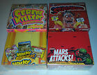 4 box lot WACKY PACKAGE CEREAL KILLERS STUPID HEROES MARS ATTACKS CARD
