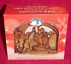 Olive Wood Laser Cut Holy Land Bethlehem Christmas Nativity Set Olivewood Church