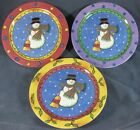 Sango Sweet Shoppe Christmas Salad Plates Lot of 3 Sue Zipkin Snowman