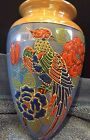 Hand Painted Vintage Japan Lustreware Wall Pocket Bird of Paradise Luster Ware