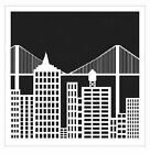 6x6 Crafters Workshop Painting Stencil Template CITYSCAPE