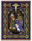 Nativity Religious American Made Woven Decorative Tapestry Throw Blanket NEW