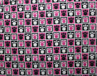 100 Cotton SNUGGLE FLANNEL Fabric DOG PAWS ON HOT PINK NEW 30 Piece