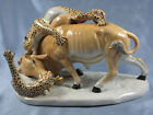 leopard with zebulon porcelain figurine limited edition bull with gepard